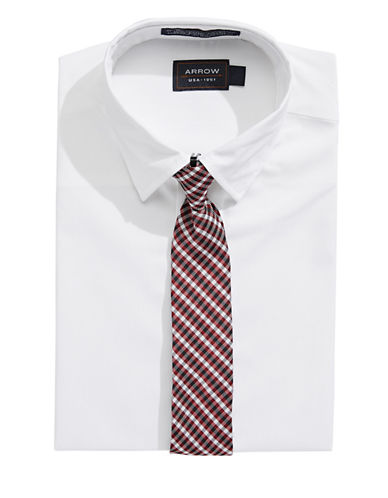 Arrow Dress Shirt and Tie Set-NATURAL-5
