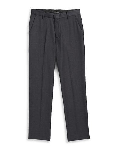Calvin Klein Modern Fit Fine Twill Pants-GREY-16