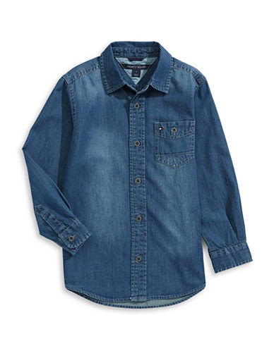 Tommy Hilfiger Max Denim Shirt-BLUE-Medium