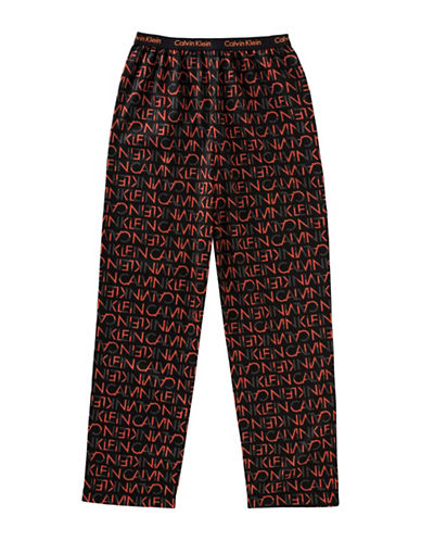 Calvin Klein Logo Sleep Pants-BLACK-14-16 88926771_BLACK_14-16