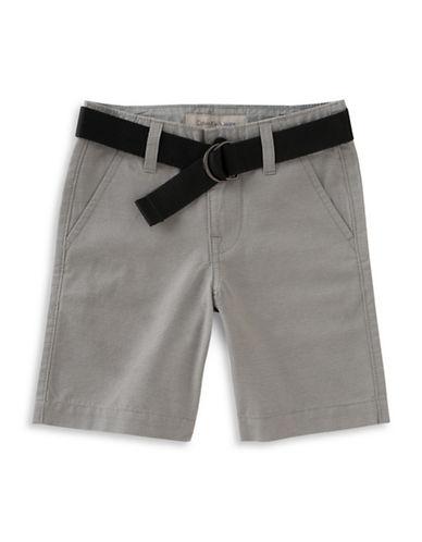 Calvin Klein Cotton-Blend Stripe Shorts-GREY-20