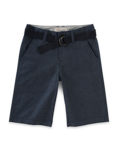 Calvin Klein Belted Horizontal Stripe Shorts-BLUE-18