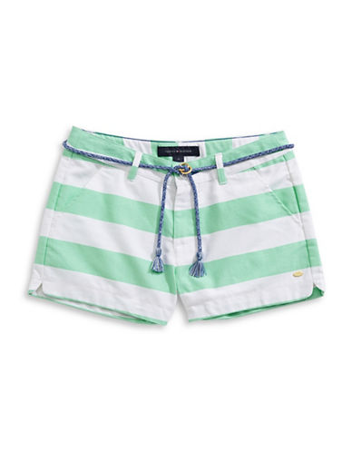 Tommy Hilfiger Striped Rugby Shorts-GREEN-7