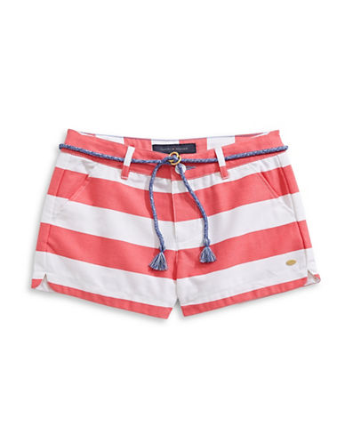 Tommy Hilfiger Striped Rugby Shorts-PINK-7