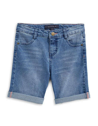 Tommy Hilfiger Slim-Fit Denim Bermuda Shorts-BLUE-7