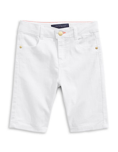 Tommy Hilfiger Slim-Fit Twill Bermuda Shorts-WHITE-8