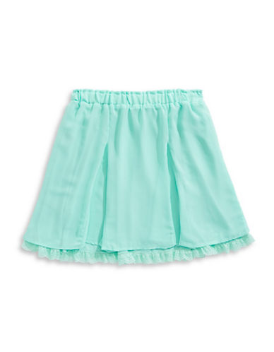 Tommy Hilfiger Lace Hem Flared Skirt-GREEN-X-Large