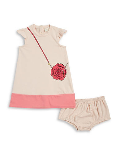 Kate Spade New York Purse Graphic Dress and Bloomers Set-PINK-18 Months