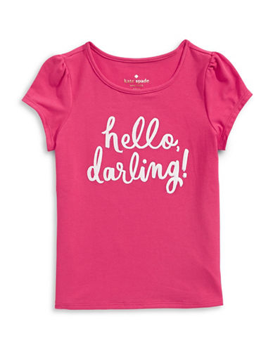 Kate Spade New York Hello Darling T-Shirt-PINK-3T