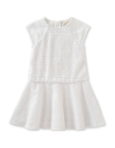 Kate Spade New York Drop Waist Lace Dress-WHITE-4