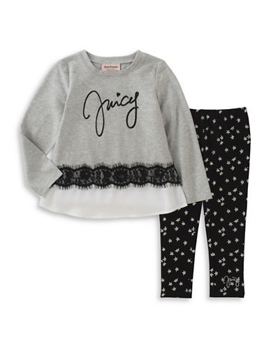 Juicy Couture Two-Piece Star Legging Set-ASSORTED-4X