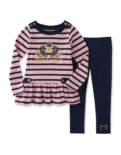 Juicy Couture Two-Piece Juicy Crest Legging Set-ASSORTED-2X