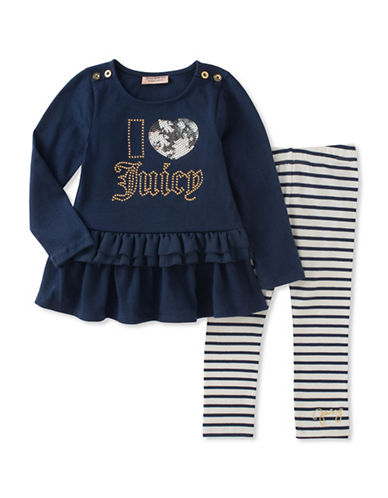 Juicy Couture Two-Piece I Heart Juicy Legging Set-ASSORTED-6