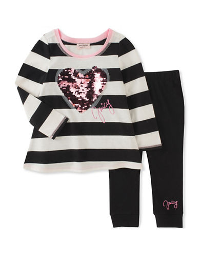 Juicy Couture Two-Piece Heart and Stripe Legging Set-ASSORTED-3X