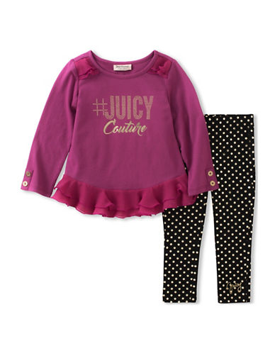 Juicy Couture Two-Piece Top and Leggings Set-ASSORTED-2X