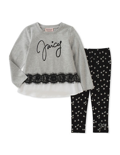 Juicy Couture Two-Piece Star Legging Set-ASSORTED-2X