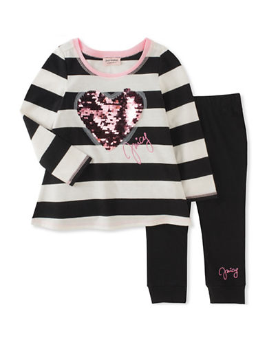 Juicy Couture Two-Piece Heart and Stripe Legging Set-ASSORTED-4