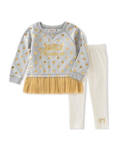 Juicy Couture Two-Piece Top and Dot Leggings Set-ASSORTED-6