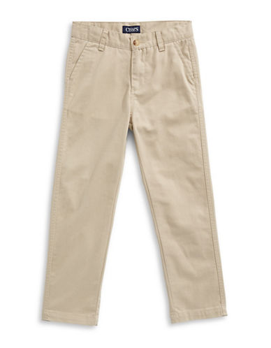 Chaps Stretch Four-Pocket Pants-BEIGE-7