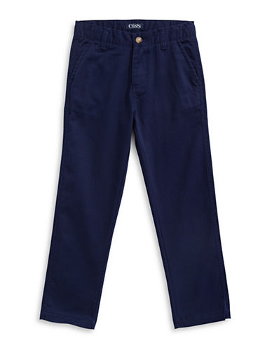 Chaps Stretch Four-Pocket Pants-NAVY-5
