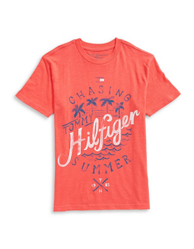 Tommy Hilfiger Chasing Summer Graphic T-Shirt-RED-Large 89213046_RED_Large