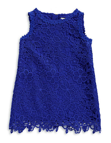 Kate Spade New York Floral Lace Shift Dress-BLUE-3T
