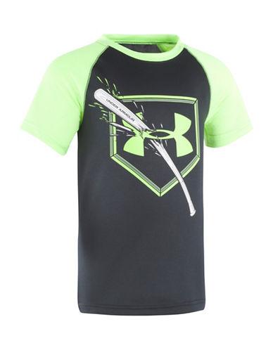 Under Armour Baseball Bat Logo Knit Tee-BLACK-7 89172543_BLACK_7