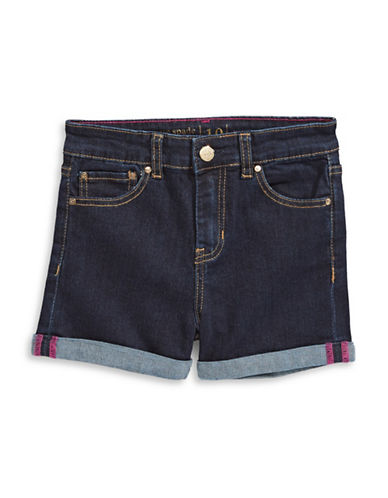 Kate Spade New York Rolled Denim Shorts-BLUE-10