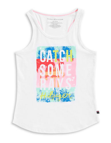 Tommy Hilfiger Catch Some Rays Tank-WHITE-Small