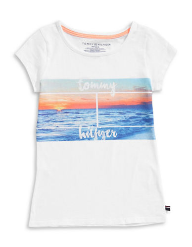Tommy Hilfiger Sunset Graphic T-Shirt-WHITE-Medium 89214205_WHITE_Medium