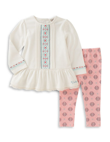 Lucky Brand Two-Piece Top and Leggings Set-PINK-18 Months