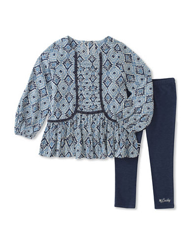 Lucky Brand Two-Piece Printed Tunic and Legging Set-MULTI-5