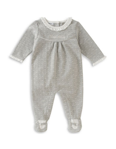 Calvin Klein Polka Dots Coverall-GREY-3-6 Months