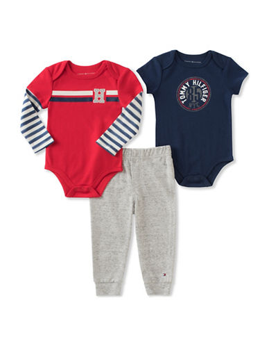 Tommy Hilfiger Three-Piece Bodysuit and Pants Set-ASSORTED-6-9 Months