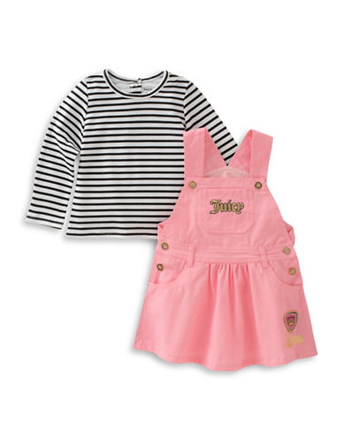 Juicy Couture Two-Piece Long Sleeve Top and Cotton Jumper Set-PINK-18 Months