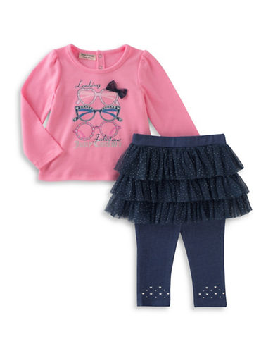 Juicy Couture Two-Piece Top and Leggings Set-PINK-24 Months