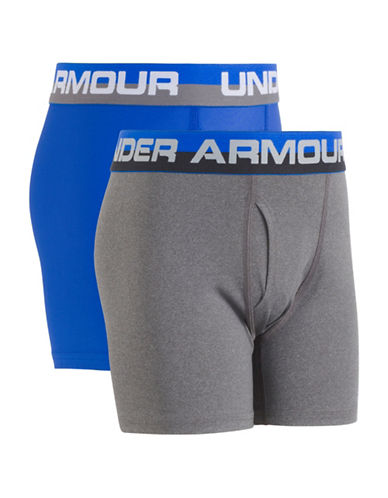 Under Armour Two-Pack Performance Boxers Set-BLUE-7-8