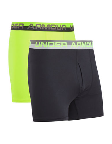 Under Armour Two-Pack Solid Performance Boxer Shorts-BLUE-6-6X
