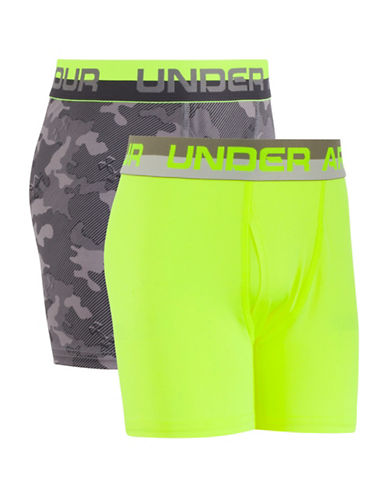Under Armour Two-Pack Original Performance Boxers Set-GREY-6-6X
