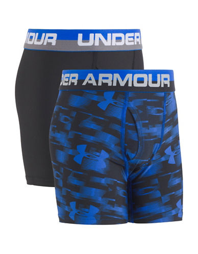 Under Armour Two-Pack Performance Boxers Set-BLUE-6-6X