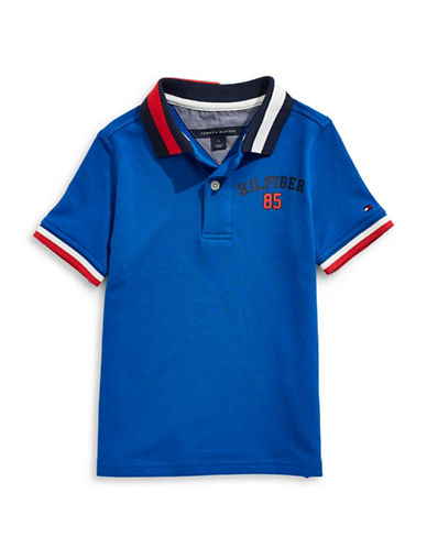 Tommy Hilfiger Striped Collar Polo-BLUE-4