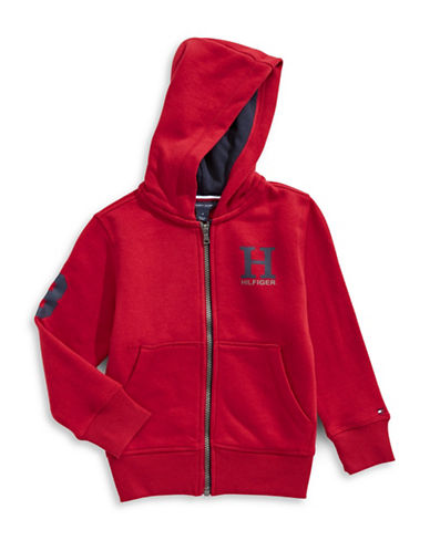 Tommy Hilfiger Signature Zip Hoodie-RED-3