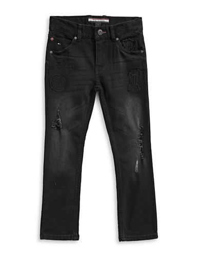 Tommy Hilfiger Ultra Rebel Tapered Stretch Jeans-BLACK-18