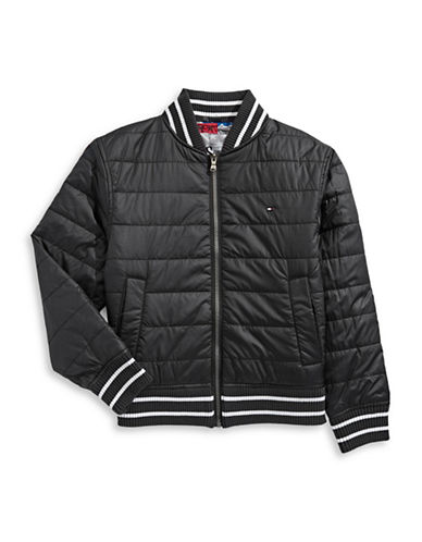 Tommy Hilfiger Reversible Bomber Jacket-BLACK-Small