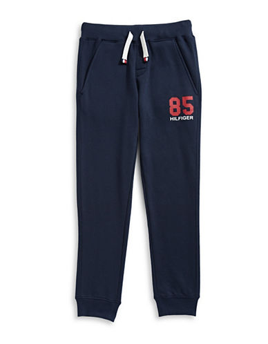 Tommy Hilfiger Knit Jogger Pants-BLUE-Small