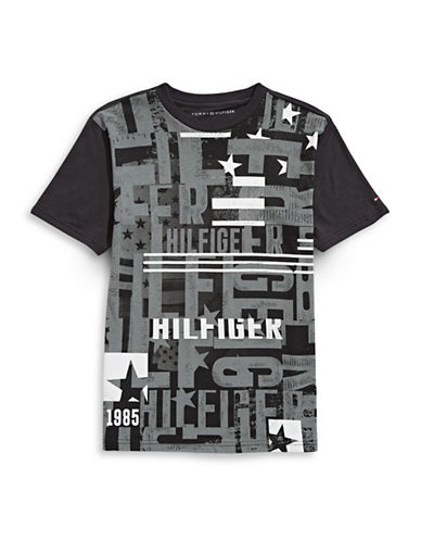 Tommy Hilfiger Shattered Graphic T-Shirt-BLACK-Large