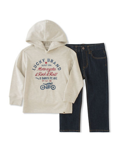 Lucky Brand Two-Piece Hoodie and Jeans Set-ASSORTED-2T