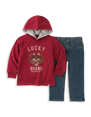 Lucky Brand Two-Piece Tiger Hoodie and Jeans Set-ASSORTED-3T
