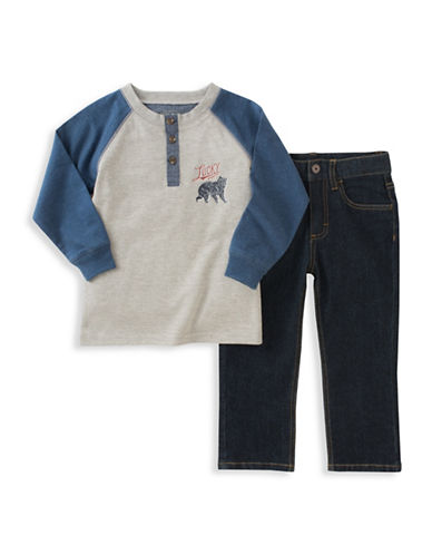 Lucky Brand Two-Piece Henley and Jeans Set-ASSORTED-3T