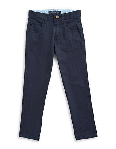 Tommy Hilfiger Five-Pocket Chinos-BLUE-16